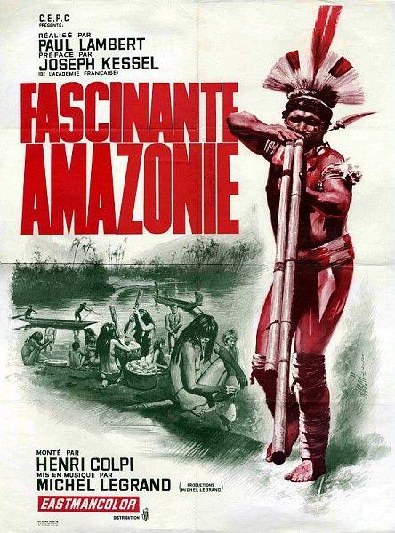 Fascinante Amazonie, affiche du film, 1966 /  Collections du Musée du Vivant - AgroParisTech