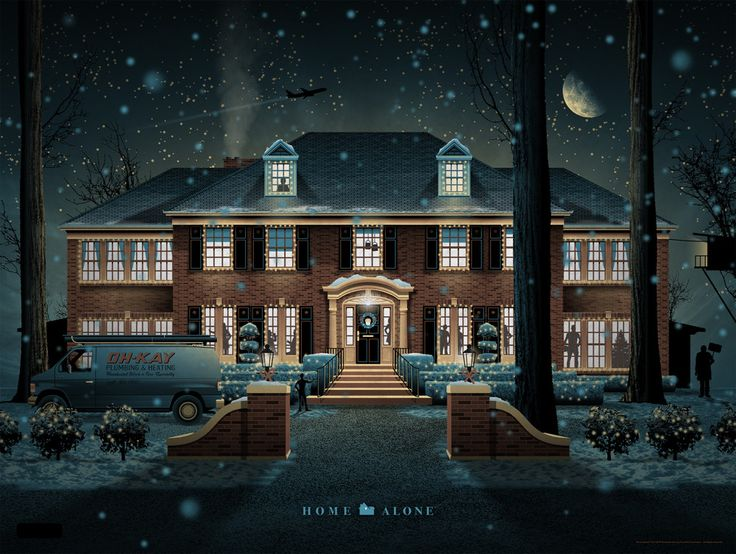DKNGs 4 Color Screenprint Honors The John Hughes Penned Chris Columbus Modern Holiday Classic Check Out DKNG Home Alone Poster Print From Mondo