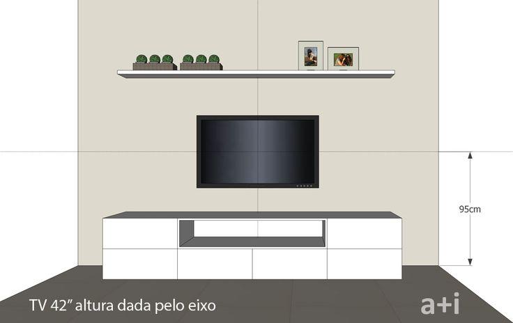 A altura ideal para pendurar a TV na parede – KzaBlog | Casa e Decoração