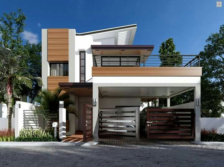 PLAN DESCRIPTION Modern house design is a 4 bedroom two story house which  can be built in a 180 sq  lot having a minimum lot frontage of 12 meters 235 best 3D Elevations images on Pinterest   Exterior design  . 3d Home Design Images Of Double Story Building. Home Design Ideas