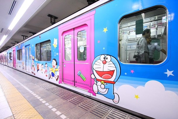 "Animation fans got a huge kick out of the special 'Odakyu F-Train', which features mangaka Fujiko F. Fujio's beloved characters (especially ""Doraemon""!), running all the way down the Odakyu line. It was specially made to build anticipation for the opening of the Fujiko F. Fujio Museum in Kawasaki.