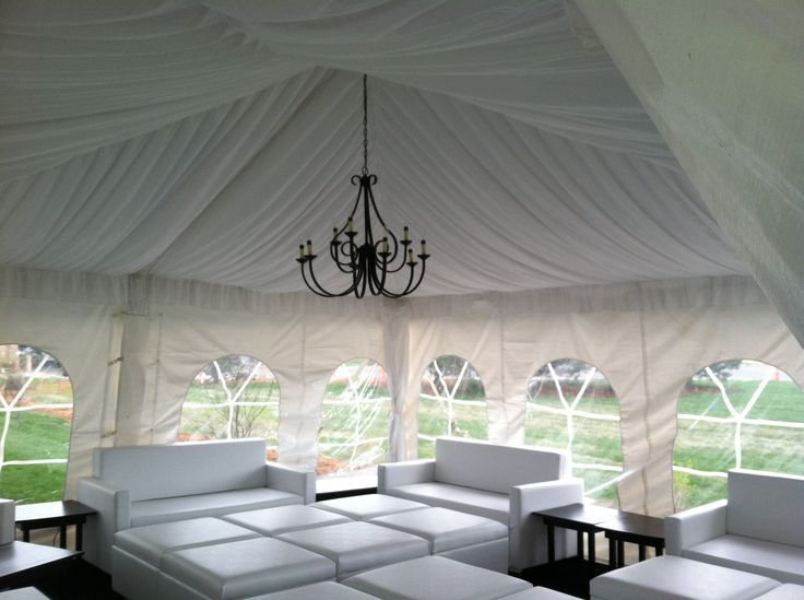 White Tent Draping and Lounge Section