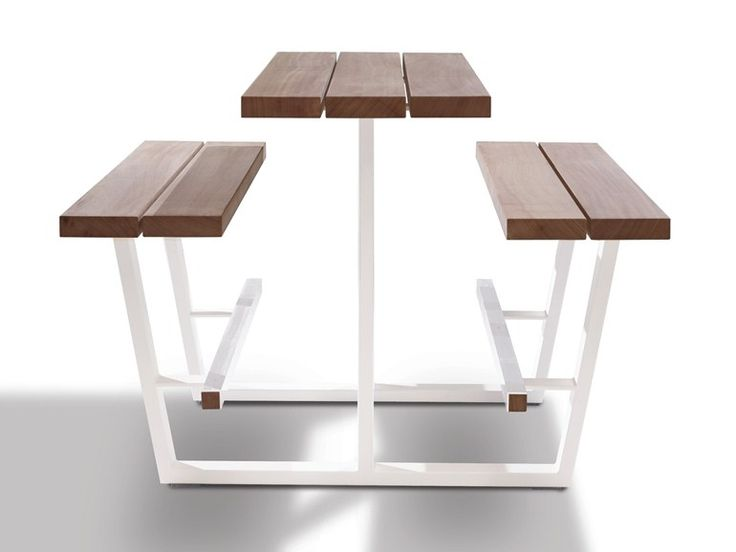 High picnic table with integrated benches BEER TABLE by CASSECROUTE
