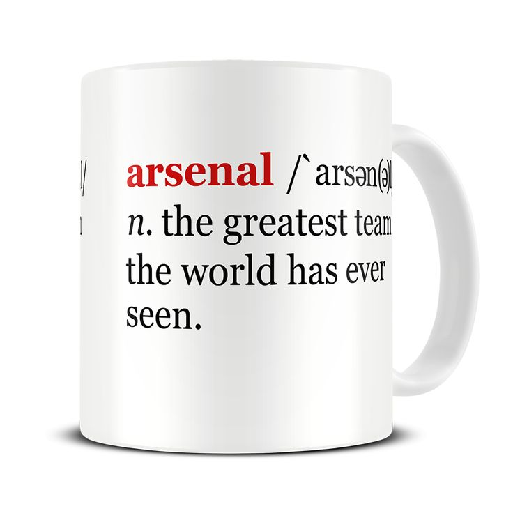 MG 295 Magoo Dictionary Definition Arsenal Football Mug – gift for arsenal fans