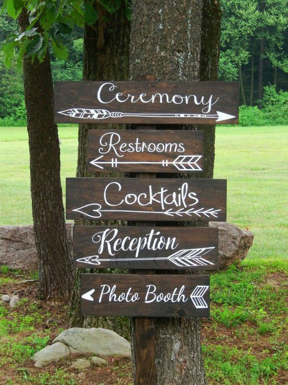 Hey, I found this really awesome Etsy listing at https://www.etsy.com/listing/236799725/one-wedding-directional-sign-wedding