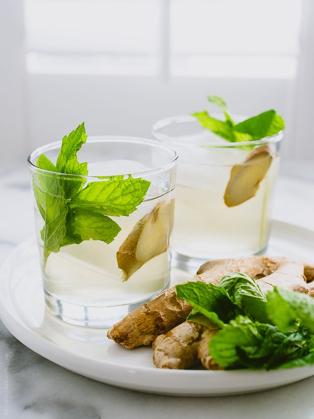 Ginger-Mint Coconut Water Cooler | www.kitchenconfidante.com