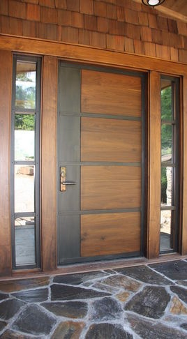 Contemporary Doors - front doors - raleigh - Appalachian Woodwrights