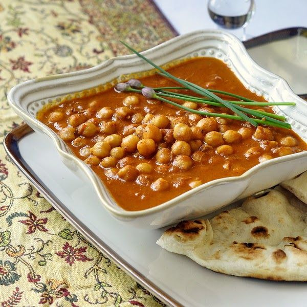 Coconut Chick Pea Korma - a mild curry recipe that's an ideal side dish at an Indian meal or as a delicious vegetarian lunch with rice or naan.