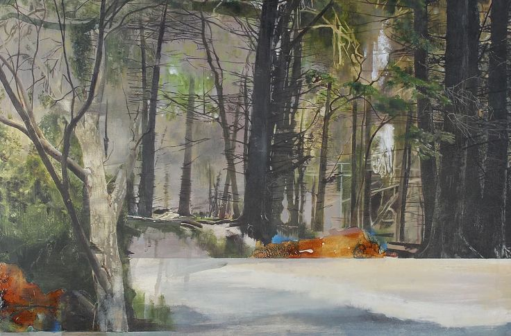 Landscape artist of the year 2015, nerine, nerine tassie, nerine mcintyre, paintings, artist, LAOTY, woodland walks, seascapes, rolling wave, heat winner, 'Within the Forest'