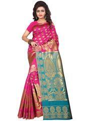 Rani Pink Color Art Silk Festive & Function Wear Sarees : Babita Collection YF-63829