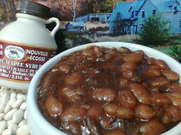 Canadian Baked Beans With Maple Syrup No Mol Recipe Maple Syrup Syrup And Beans