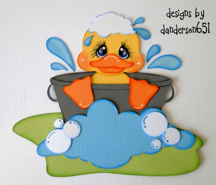 Duck Boy Girl  Paper Piecing Set PreMade 4 Border Scrapbook Album danderson651