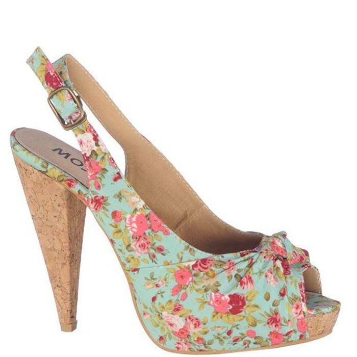 Sandale cu platforma si toc,de dama marca Mojito Fete: textil Interior: piele naturala + textil Talpa: sintetic Platforma fata: 2,5 cm Toc: 12 cm