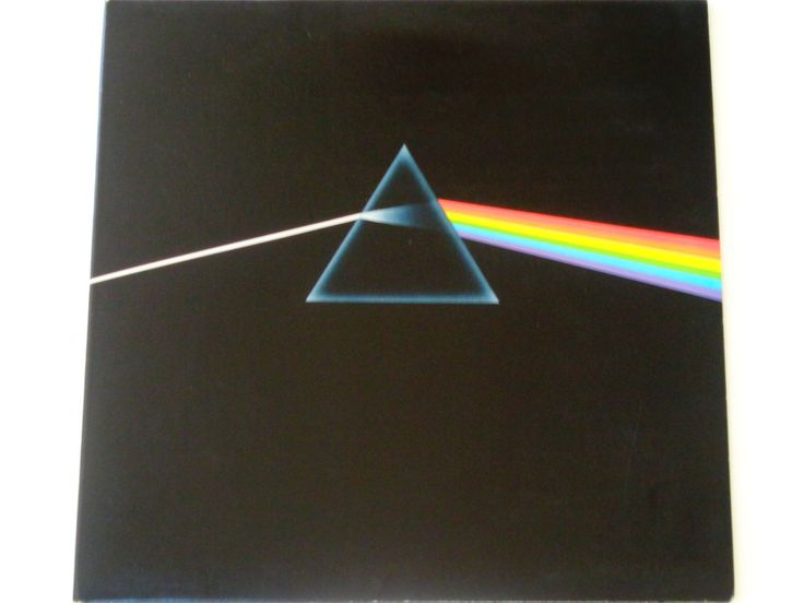 """Pink Floyd - Dark Side of the Moon with 2 Posters and Postcard - """"Breathe"""" - Capitol Records Re-Issue 1973 - Vintage Vinyl LP Record Album by notesfromtheattic on Etsy"""