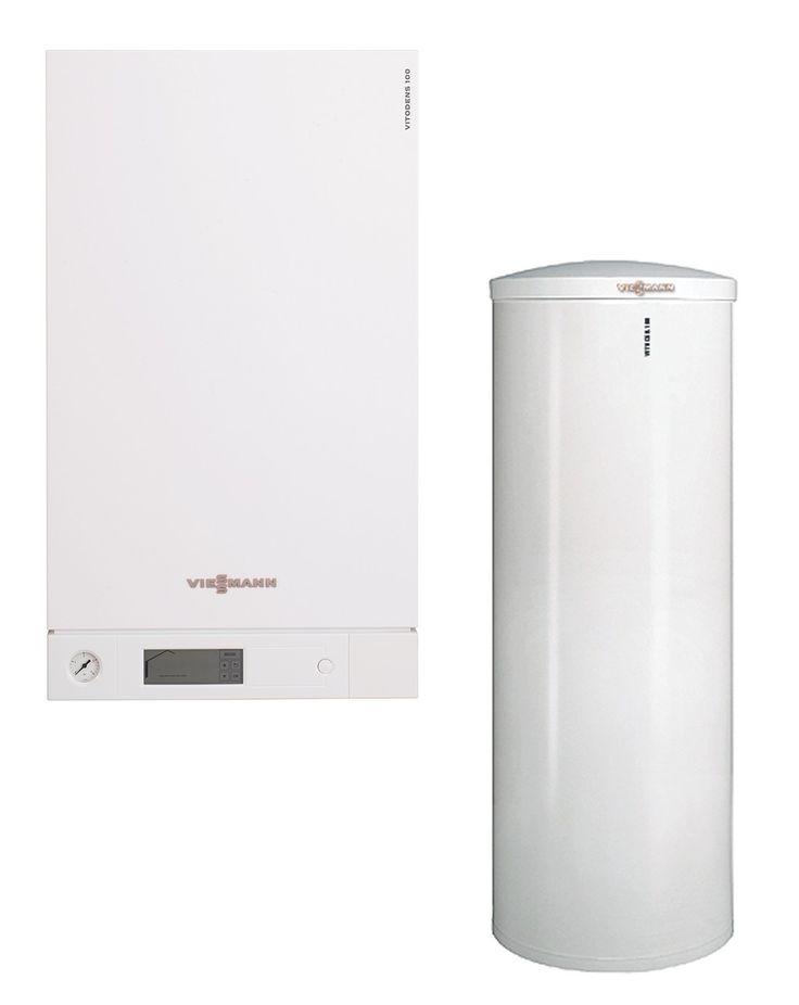 Viessmann Vitodens 100-W B1HC Gas-Brennwert Heizungspaket mit Vitocell 100-W CVA