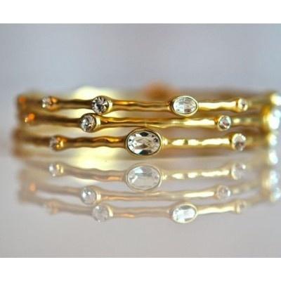 hammered gold bangles