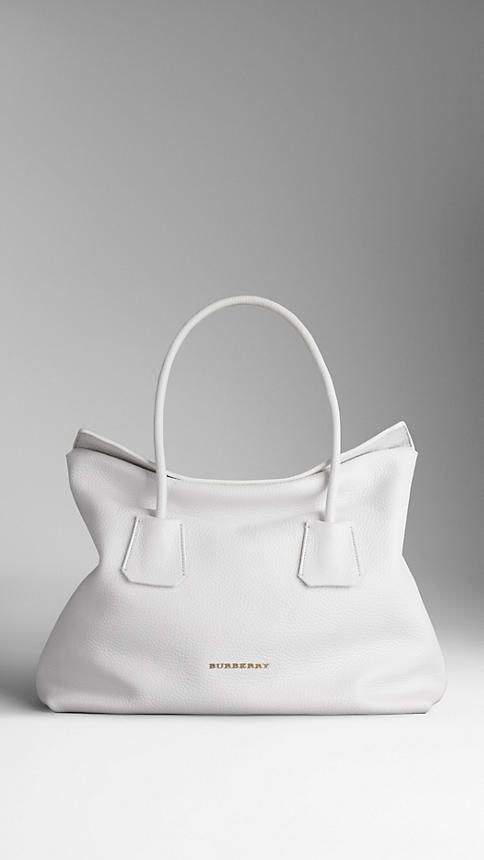 Blanc Sac tote medium en cui BURBERRY