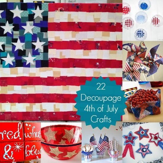 22 Fourth of July Crafts Made with Mod Podge  (!!!)
