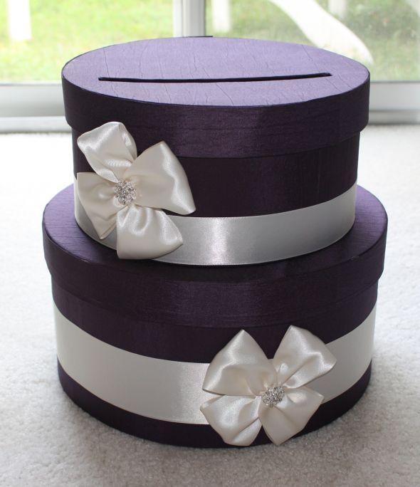 DIY card box: Hats Boxes, Gifts Cards, Wedding Cards Boxes, Money Savers, Diy Cardbox, Purple Cardbox, Cards Holders, Diy Cards, Diy Wedding