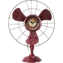 Pendule métal en forme de vieux Ventilateur UNITED LABELS - Horloge