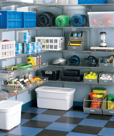 When organizing your garage don't forget to put labels on your big containers, it will save you lots of time later !!