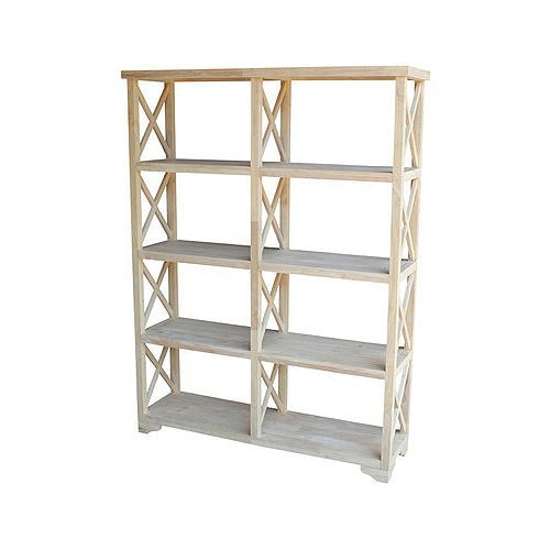 Lowest Price Online On All International Concepts Home Accents Unfinished  U0027Xu0027 Sided Double Shelf Unit