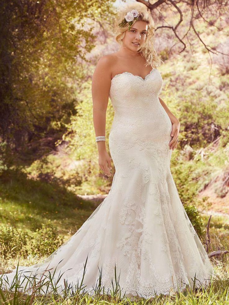 40 best curvy bridal images on pinterest short wedding for Wedding dresses for short curvy brides
