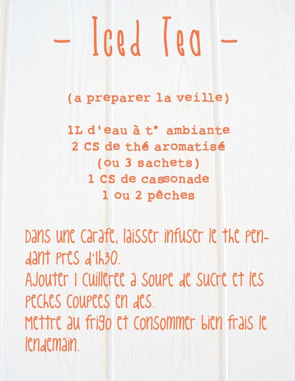Spoon[encore!] Blog de recettes sans gluten / Gluten Free recipes from my kitchen in France: Thé glacé