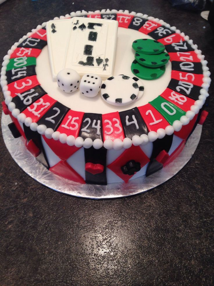Roulette Cake Casino Cakes Party Cakes Cake Decorating
