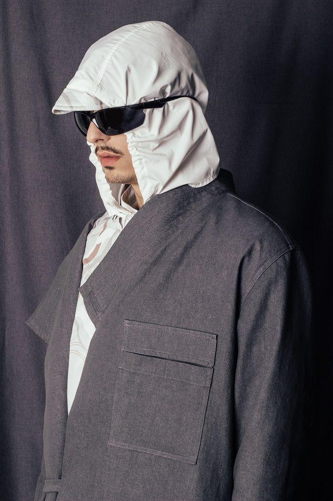 Constantine/Renakossy | rhéō 17 | menswear - WORKWEAR INSPIRED DENIM COAT -pocket detail - TRENCH-KIMONO HYBRID