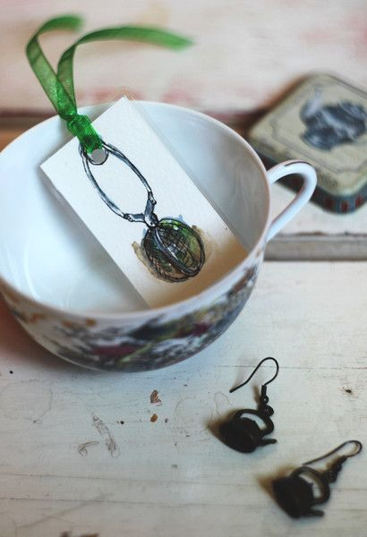 Paper & Card – Tea Lover - Handmade bookmark – a unique product by virydi_art on DaWanda
