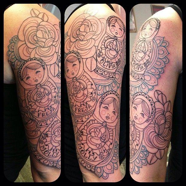 Tattoo in Progress by Kari Grat - All that gorgeous line work!!!!!!