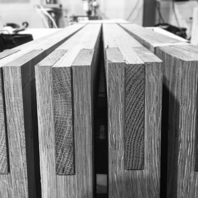 Dry fit bridle joints, straight off the saw. #yesssss #makimaki #boardroomtable #interiordesign #handmade #brisbanemade
