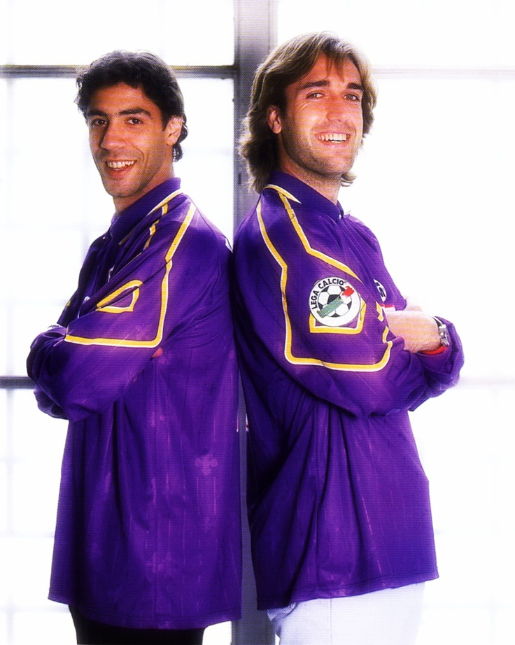 Siamese dream. Manuel Rui Costa and Gabriel Batistuta. Fiorentina (90's).