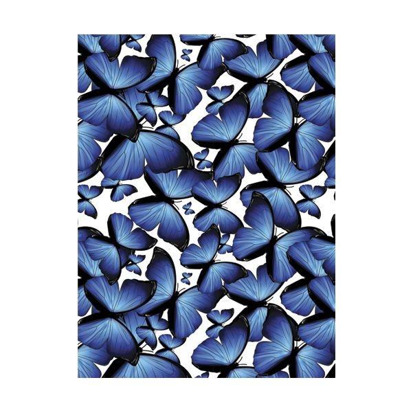 This blue butterfly pattern kitchen splashback will add vivid colours to your kitchen. #splashback #bluemonday