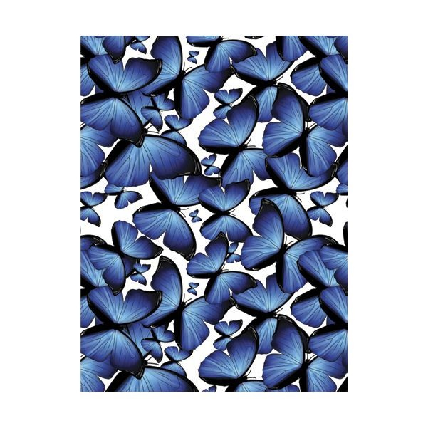 This blue butterfly pattern kitchen splashback will add vivid colours to your kitchen. #splashback #bluemonday