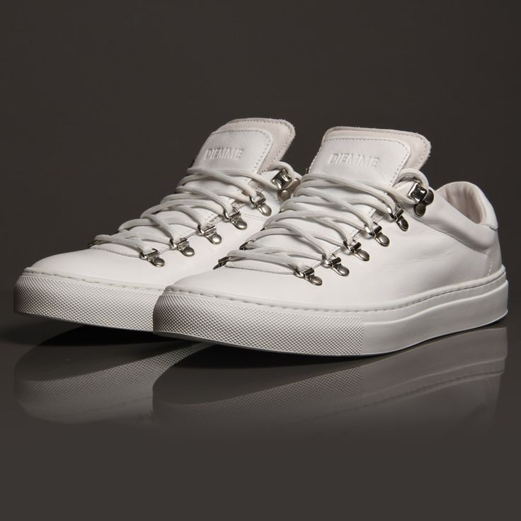 Diemme Marostica Low in luxurious white leather, crafted in the heart of Italy