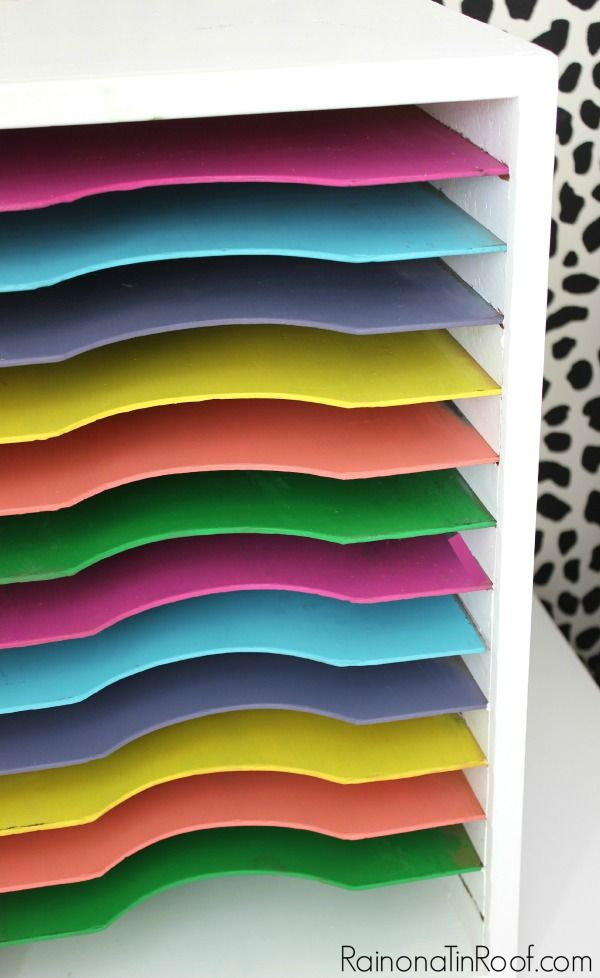 Banish blah paper sorters and live colorfully with this colorful paper sorter makeover!