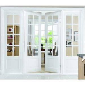 Wickes Newland Internal French Doors White Glazed 8 Lite 1981x1168mm