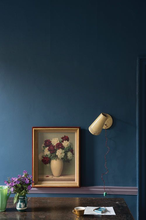 Pretty much obsessed with this new paint color by Farrow & Ball - Stiffkey Blue No.281