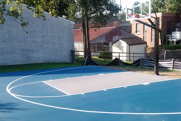 17 best basketball court ideas images on pinterest for Home basketball court cost
