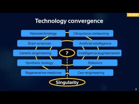 The lead up to the Singularity David Wood, Catalyst and Futurist at Delta Wisdom, and Chair of London Futurists explains the scope of London Futurists, by briefly describing technology convergence, the technological singularity, and the hybrid age.