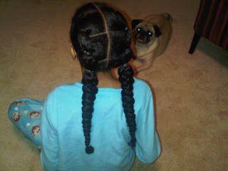 Tweeny Hair: Half Cornrows with Twists