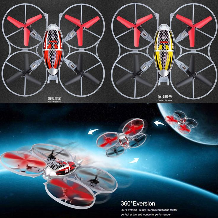 Dron 4CH  6Axis Quadcopter Yellow & Red Drones Rc Helicoptero 3D Quadrocopter RC Helicopter //Price: $US $36.64 & FREE Shipping //     #toys