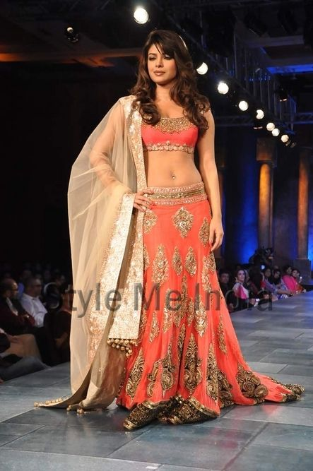Priyanka Chopra on the ramp at Mijwan sonnets in fabric 2012 fashion show