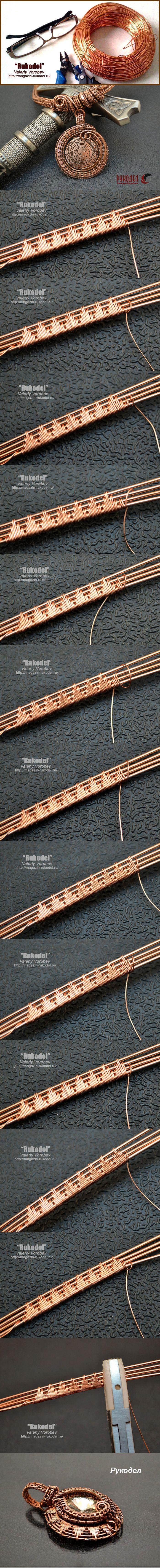 Плетение оплеток из проволоки Wire Wrap. | Рукодел                                                                                                                                                      More