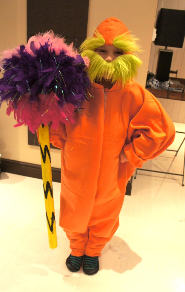 The Lorax costume (made from IKEA various products)