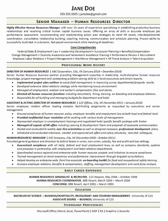 Human Resource Manager Resume Luxury View Human Resources Manager Resume Example In 2020 Human Resources Resume Human Resources Resume Examples