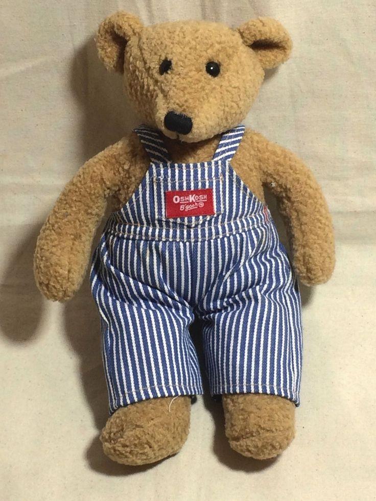 vintage eden osh kosh b 39 gosh teddy bear in overalls 11. Black Bedroom Furniture Sets. Home Design Ideas