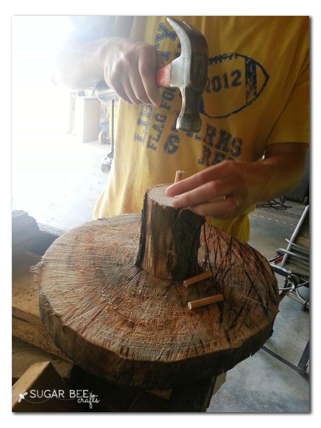 Rustic Wood Cupcake Stand - Sugar Bee Crafts